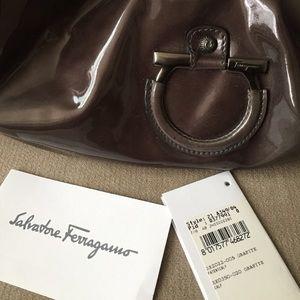 Salvatore Ferragamo Bags - New Salvatore Ferragamo grey patent leather bag d8ca7159aa222