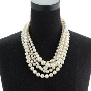 J. Crew Pearl Twisted Hammock Necklace