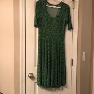 M Nicole LuLaRoe green dress