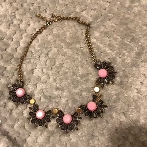 J.Crew necklace with pink flower details