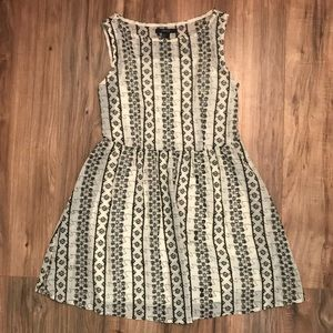 Forever 21 Cream cinched Eyelet mini dress
