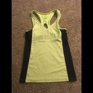 Chartreuse and dark gray workout tank💎