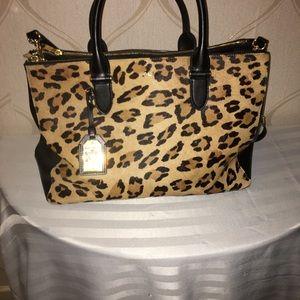 Ralph Lauren leopard print handbag