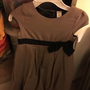 Sale Beautiful taupe with blk bow NWT girls dress