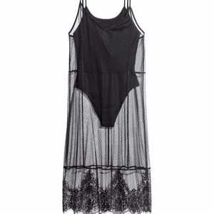 H&M Loves Coachella Mesh Dress Bodysuit