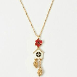 Kate Spade Cuckoo Clock Necklace NEW