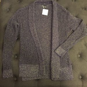NWT Purple and silver sparkle cardigan