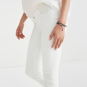 Madewell maternity skinny jeans in pure white, 27