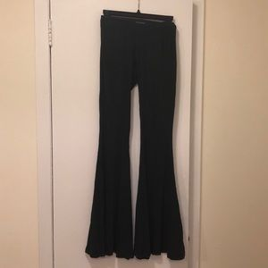BRANDY MELVILLE faux suede flare pants OS