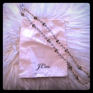 """J Crew clear necklace.  32""""."""