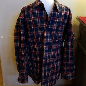 Vintage Blue Plaid Pendleton Shirt