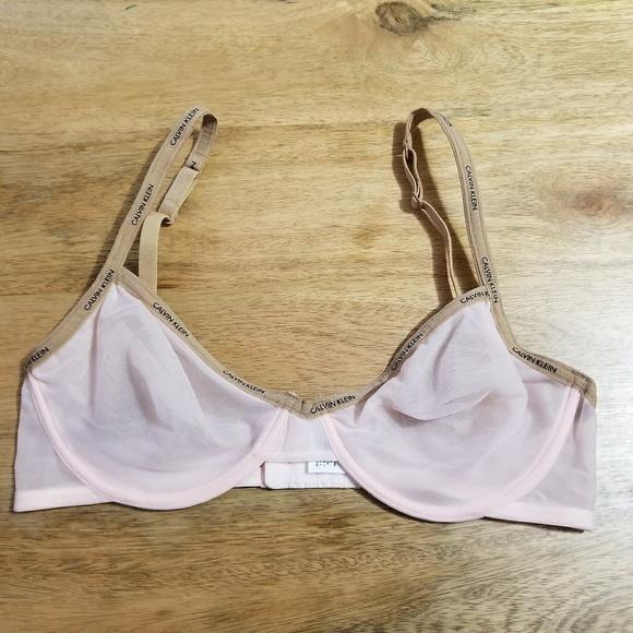 31ec6f2ae07 Calvin Klein Underwear Other - Calvin Klein Sheer Mesh Bra 34C Blush and  Nude