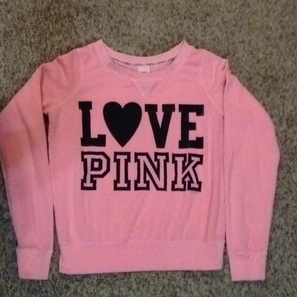 69% off PINK Sweaters - LOVE PINK Coral Crewneck Sweater from ...