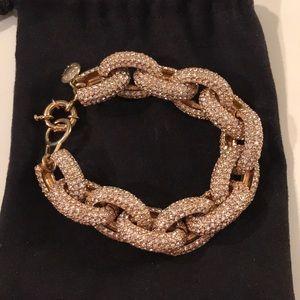 J. Crew classic pavé link bracelet