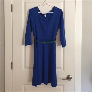 Blue 3/4 sleeve dress