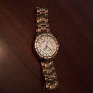 Betsey Johnson Rose Gold Watch