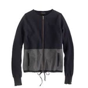 J Crew Madewell Blue Gray Sweater Jacket S Small