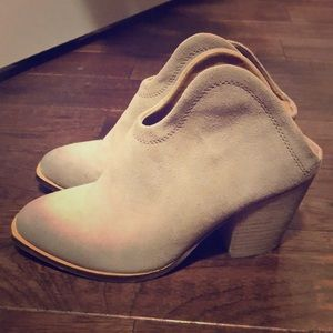 Chinese Laundry Backless Suede Booties - 6