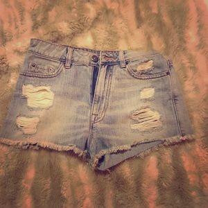 Jean shorts- high waisted