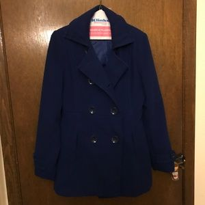 Forever 21 royal blue pea coat size S