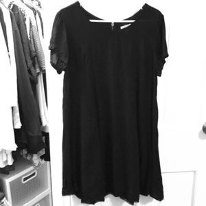 Silence & Noise Black L shirtsleeve short dress