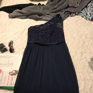 Navy blue brides maid dress size 10