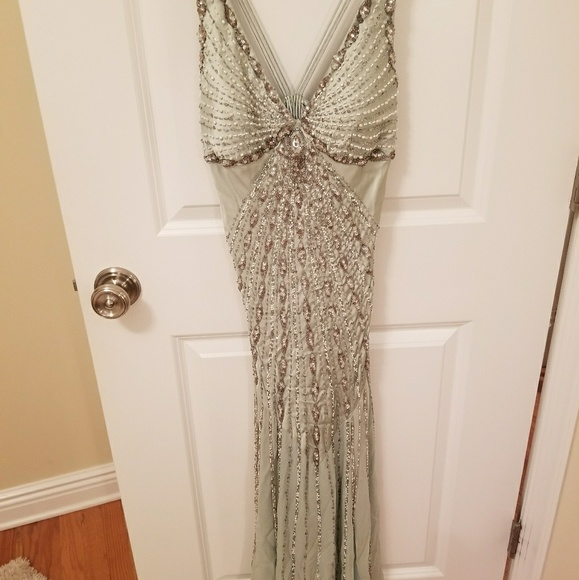 Sue Wong Dresses | Gorgeous Silk And Beaded Gown Prom Dress | Poshmark