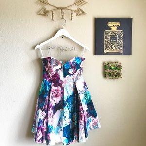 REVOLVE Bardot Fit & Flair Floral Dress