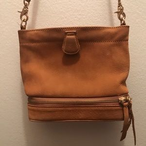 Anthropology Leather Suede Small Shoulder Bag