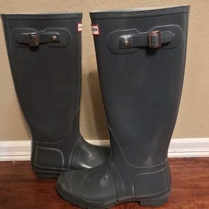 Hunter Boots (Gray Gloss)