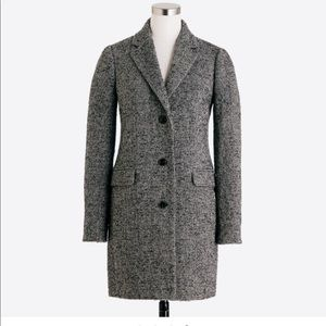 NWT J. Crew tweed coat
