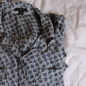 Ann Taylor floral blouse button up