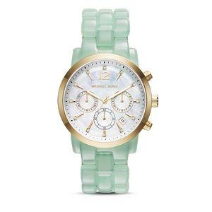 Michael Kors Women's Green Audrina Mint Watch