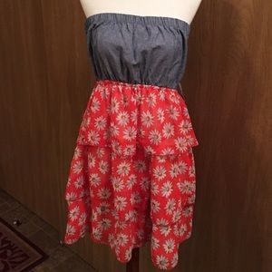 NWT Rue 21 Denim and Daisy Strapless sz XL
