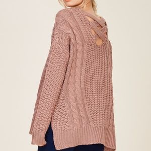 NWT CROSS OVER BACK PULL OVER SWEATER