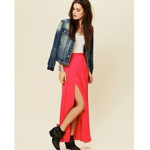 Lovers + Friends Hot pink Maxi Skirt