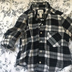 Forever 21 checkered crop button up