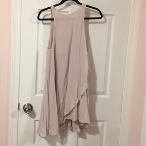 silence + noise pink shift dress