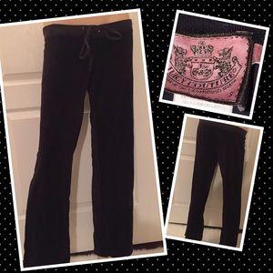Juicy Couture Velour black Pants Petite Small