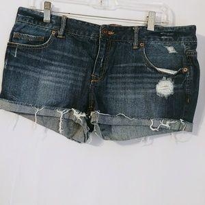 Womens Aeropostale Size 13/14 Shorts Denim Jean Cu