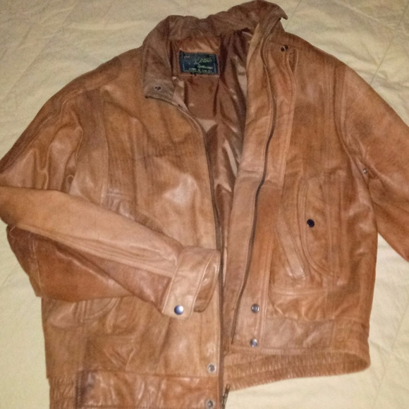Austin Reed Jackets Coats Mens Brown Leather Jacket Xl Weathered Nicely Poshmark