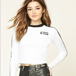 Forever 21 Long-sleeve Body-con Crop Top