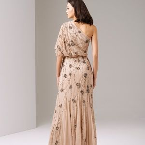 Adrienne Papell gown one shoulder sequin