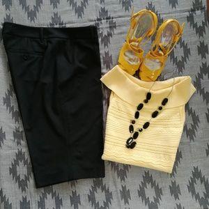 Michael Michael Kor's Black Bermuda Shorts Size 6