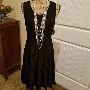 NWT XLARGE Anne Klein ribbed little black dress