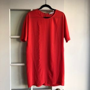 Wayf Poppy Red Short Sleeve Dress