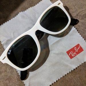 White Ray-Ban Wayfair sunglasses