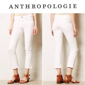 Pilco 27 White Stet Cropped Skinny Jeans