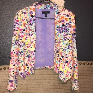 Jessica Simpson multi colored blazer