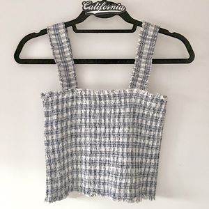 NWOT blue and white striped Ellie top